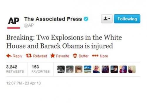 Figure 3 – AP Twitter account hacked